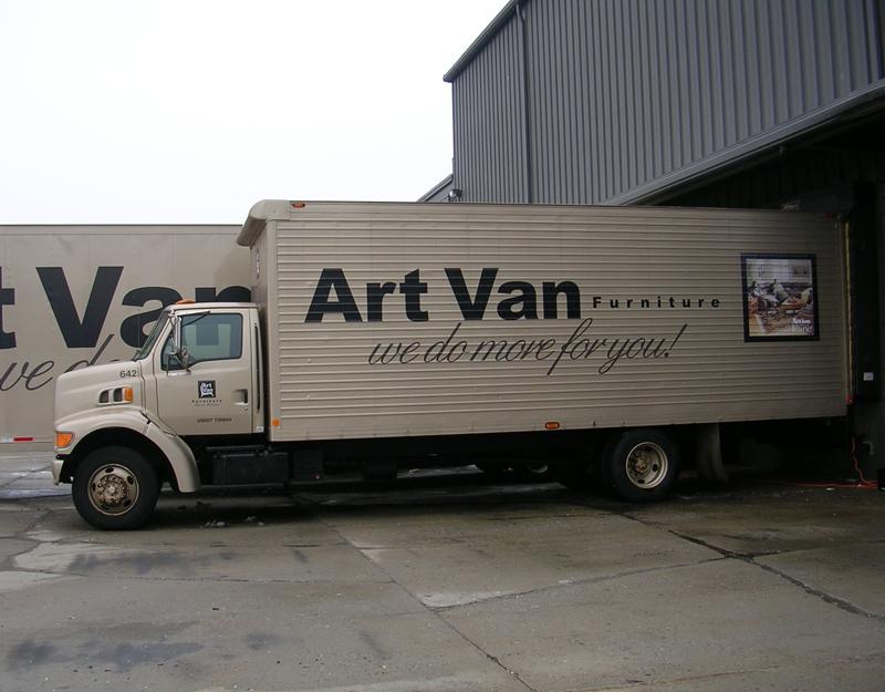 Art Van delivery truck