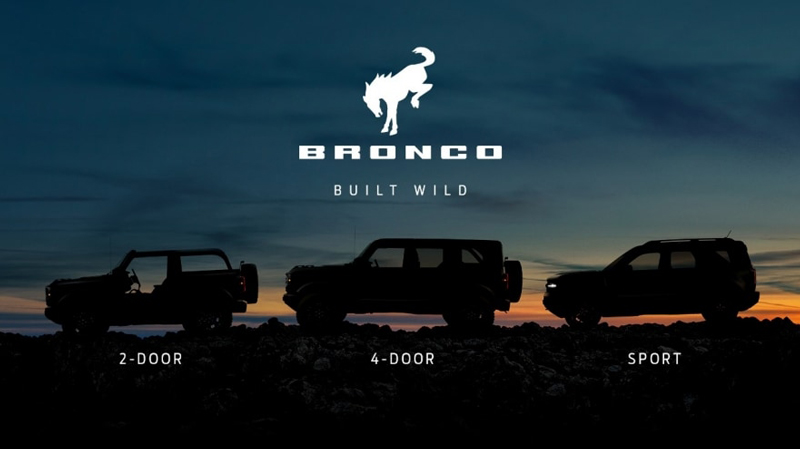 Ford Bronco lineup