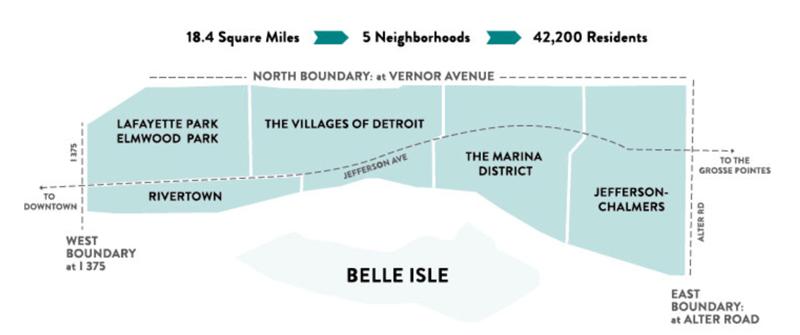East Jefferson Corridor map