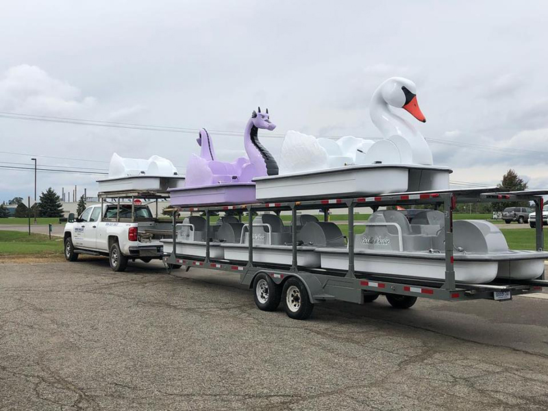 National Composites' fiberglass pedal boats