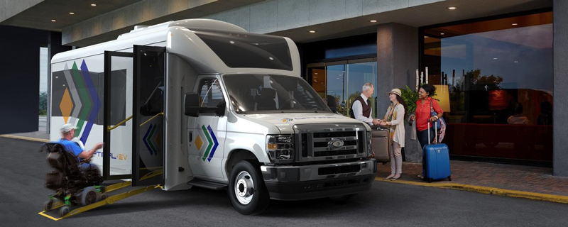 S1LF shuttle bus by Optimal Electric Vehicles