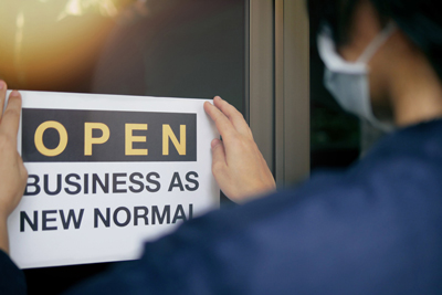 open business as new normal sign