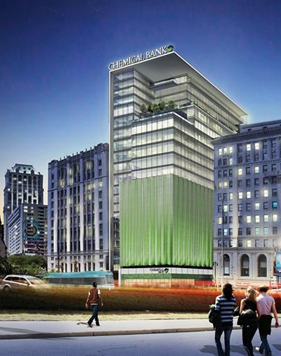 TCF Bank headquarters rendering