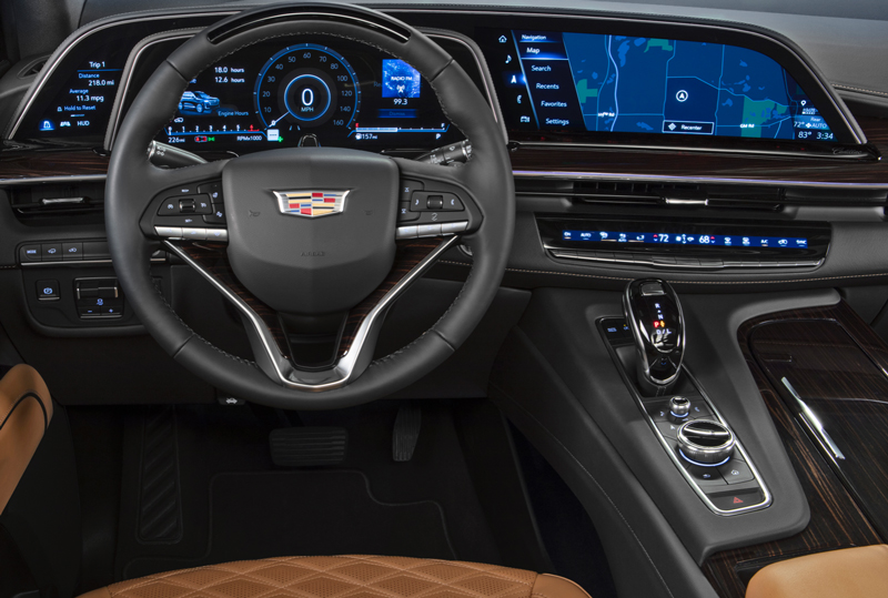 2021 Cadillac Escalade with OLED display screens