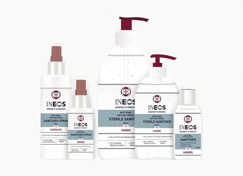 Ineos Hygienics hand sanitizer