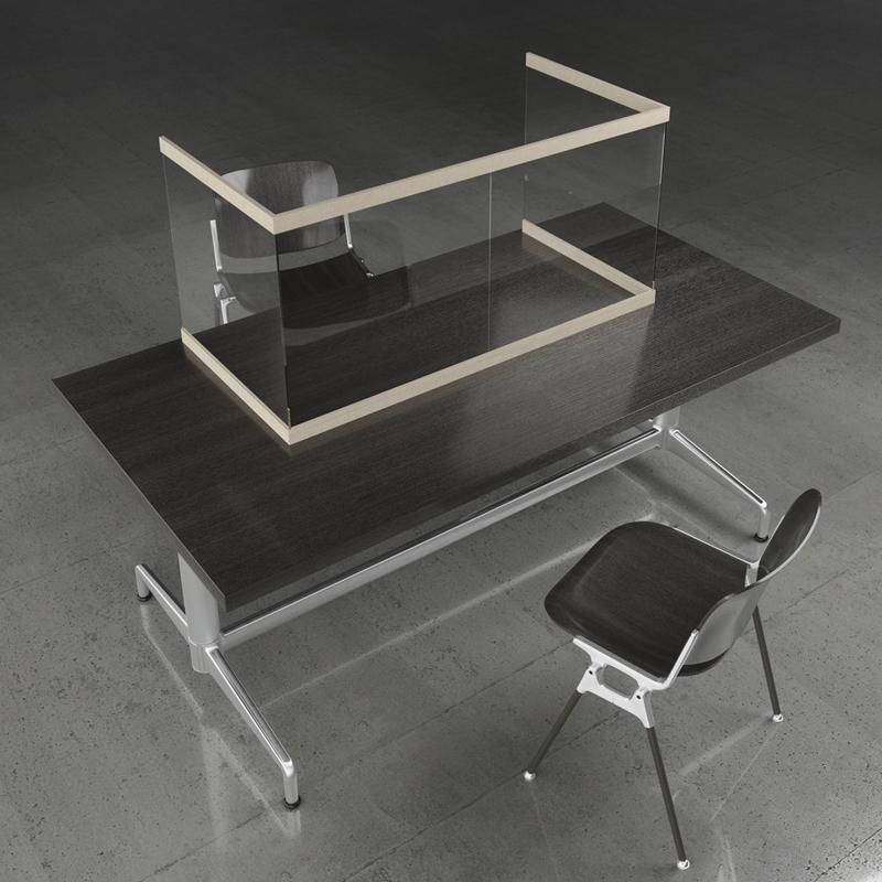 Acoufelt acrylic desk divider