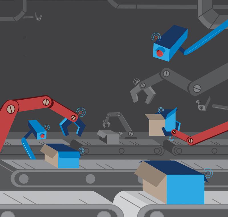 autonomous factory illustration