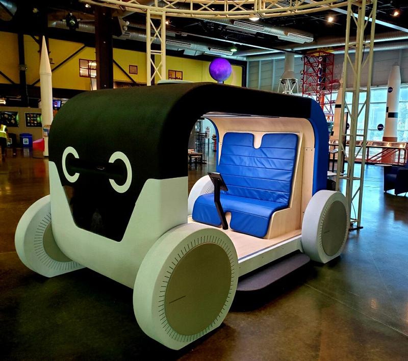 autonomous vehicle exhibit at Michigan Science Center