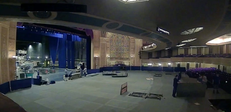 New floor deck at Detroit Opera House