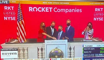 Rocket Cos. execs ring NYSE bell