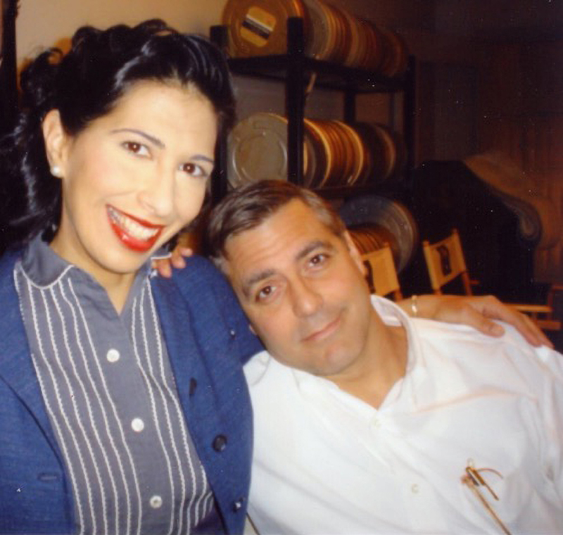 Rose Abdoo and George Clooney