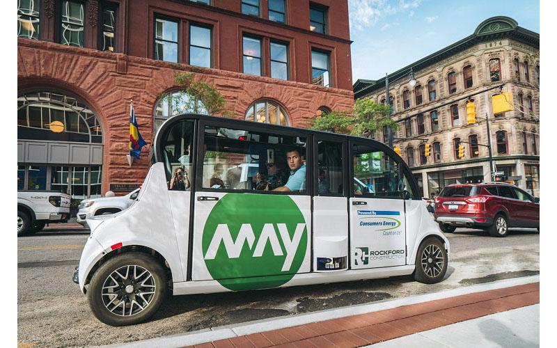 May Mobility autonomous shuttle