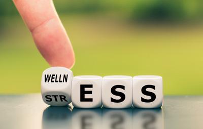 wellness to stress illustration
