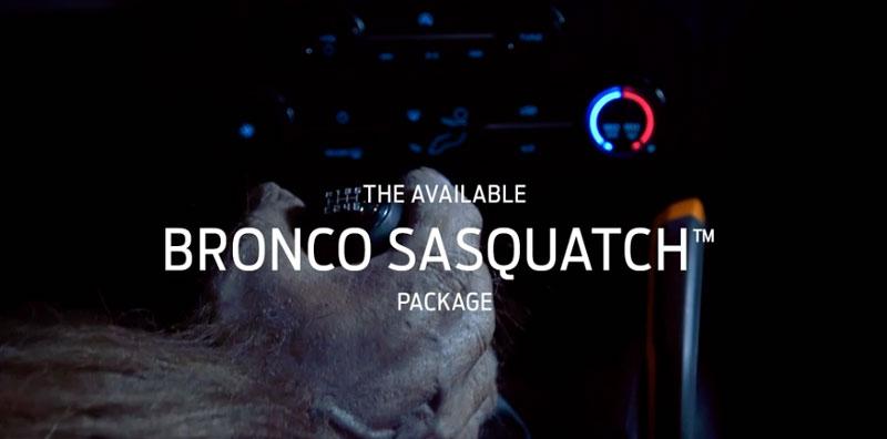Ford Bronco Sasquatch video capture