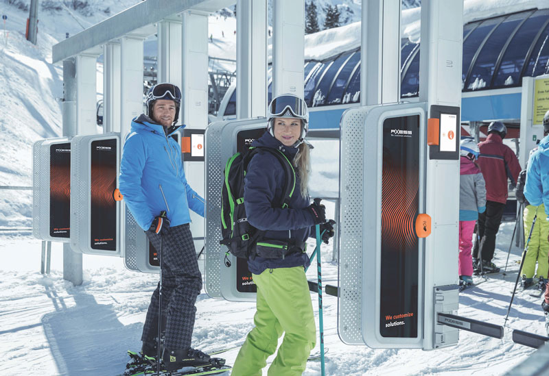 radio frequency ID system for ski lifts