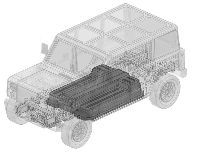 Bollinger battery pack illustration