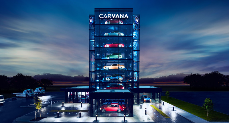 Carvana Car Vending Machine in Novi