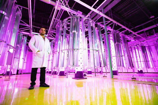 Mark Savaya in Future Grow Solutions facility