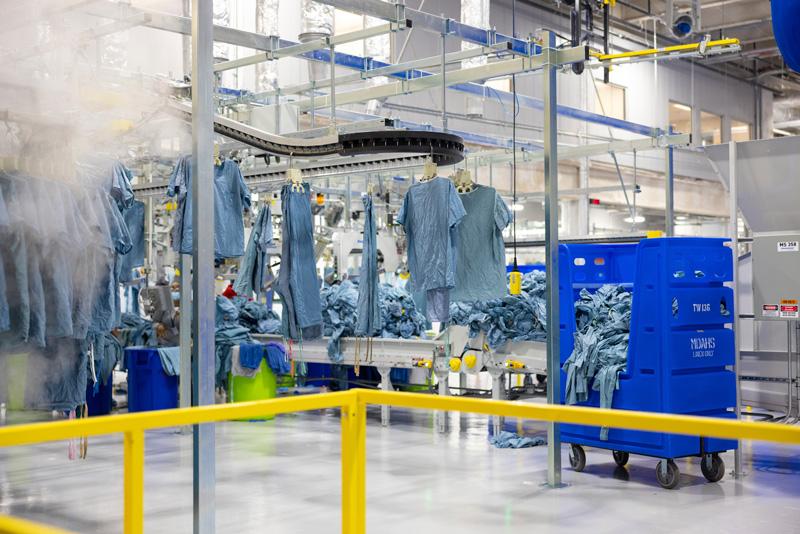 hospital laundry facility
