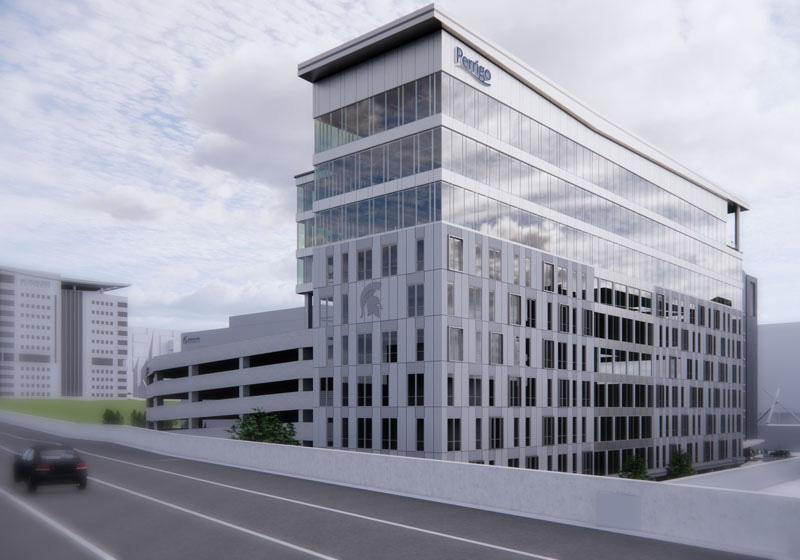 rendering of Perrigo headquarters in Grand Rapids