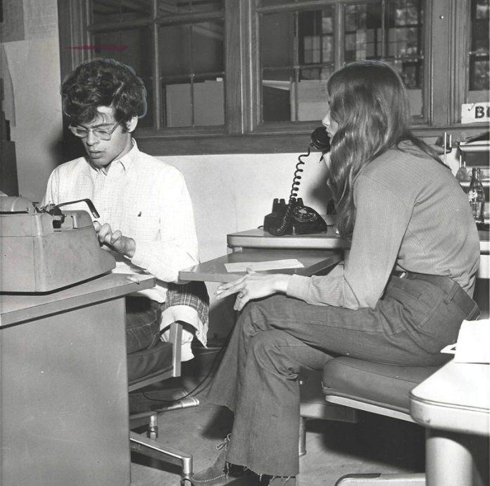 Daniel Okrent in the newsroom