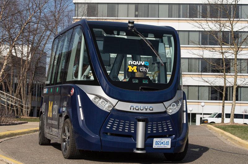Mcity autonomous shuttle