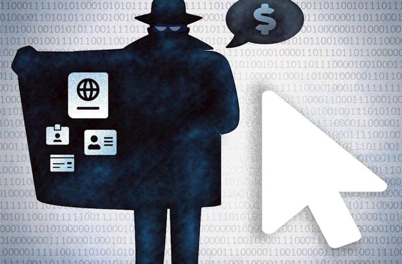fake IDs online illustration