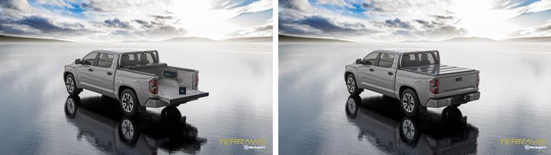 TerraVis tonneau cover solar charging system