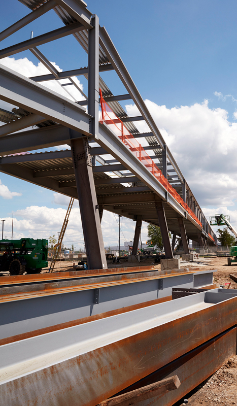 United Shore skywalk construction
