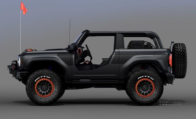 2021 Ford Bronco Badlands Sasquatch Two-Door Concept