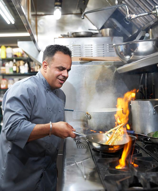 Bobby Nahra cooking