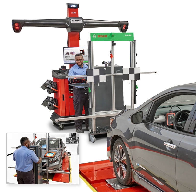 Bosch and Hunter Engineering's advanced driver assistance calibration systems