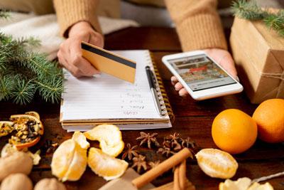 Online holiday shopper