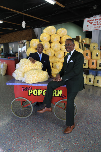 Reggie Kelley and Ken Harris at Detroit Popcorn Co.