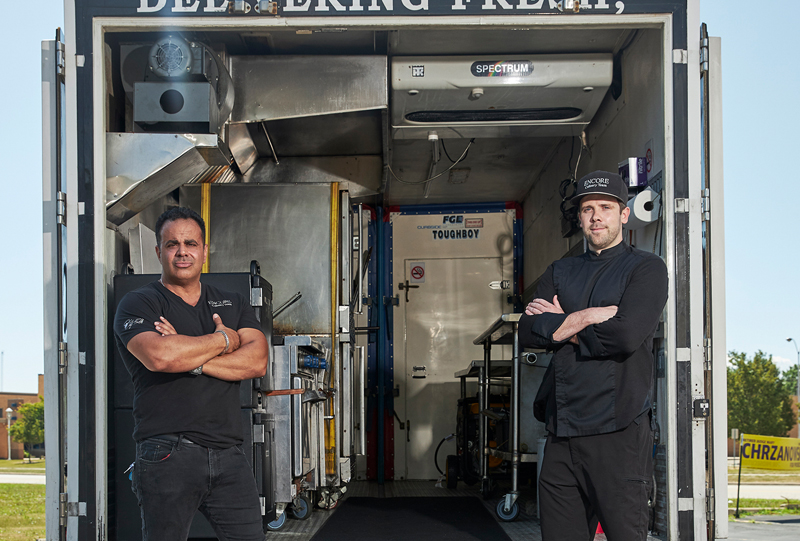 Bobby Nahra and Jon Zube in their food truck