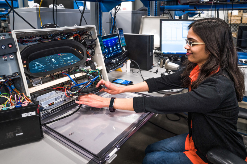 woman working at GM tech job