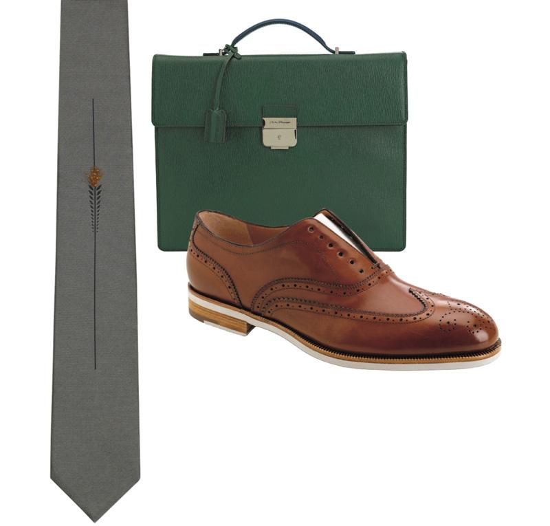 tie, briefcase, shoe