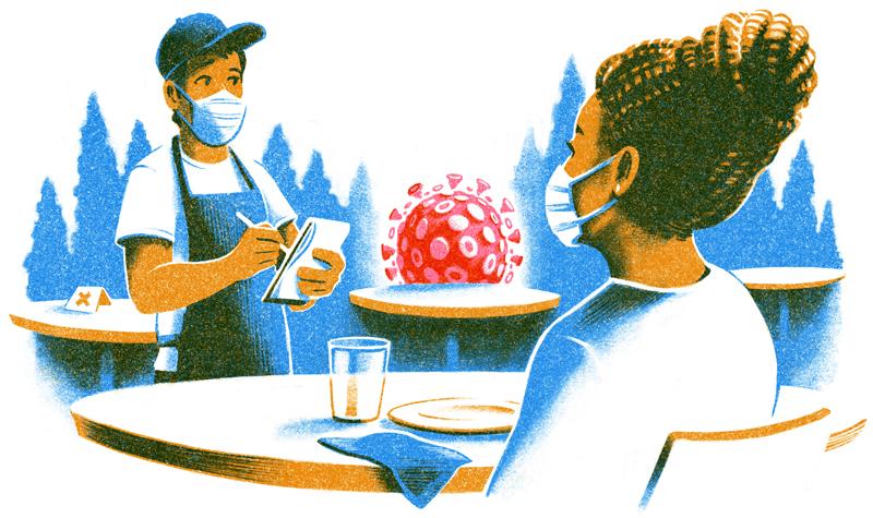 bars and restaurants illustration