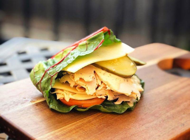 Breadless sandwich