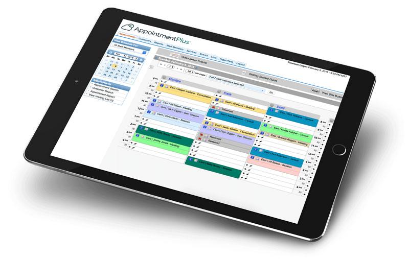 AppointmentPlus' scheduling platform
