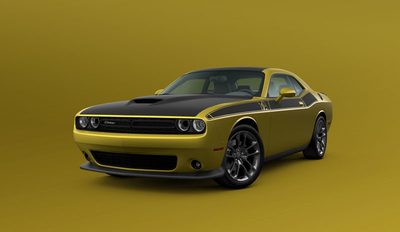 Dodge Challenger in Gold Rush