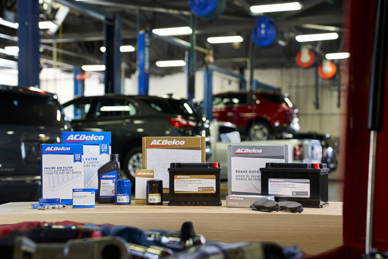 GM Genuine Parts and ACDelco packaging
