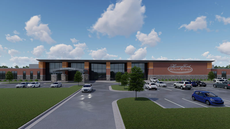 rendering of Henry Ford Health System's behavioral health facility
