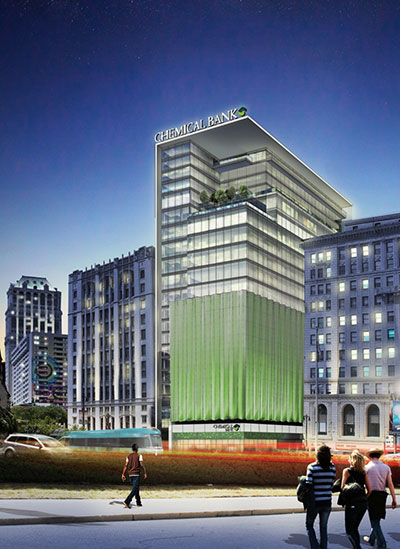 Huntington Detroit headquarters rendering