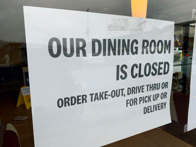 dining room closed stock photo