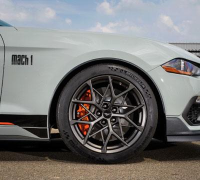 Mustang Mach 1 Handling Package Wheels Take Design Cues from Bird's Nests