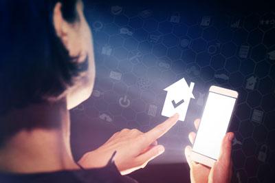 digital homeowners insurance stock photo