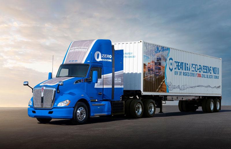 Toyota zero emission fuel cell heavy duty truck