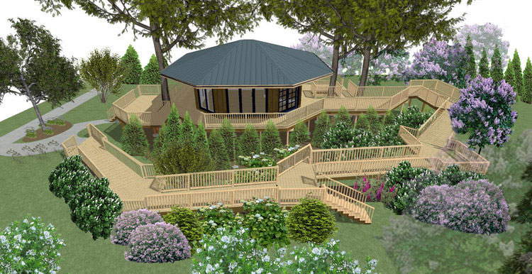 Manistique Community Treehouse Center treehouse rendering