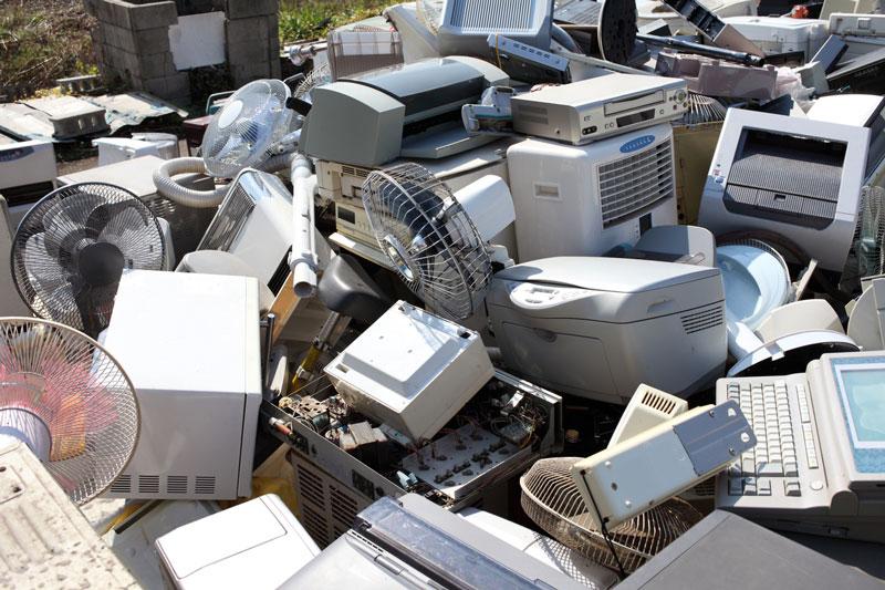 plastic appliances in landfill